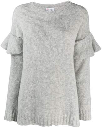 RED Valentino ruffled sleeve knitted sweater
