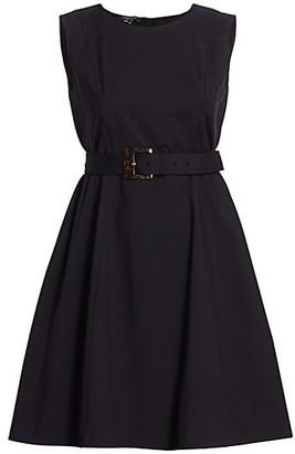 Lafayette 148 New York, Plus Size Leslie Belted A-Line Dress