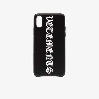 Vetements black gothic logo iPhone XS case