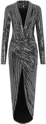 Little Mistress Divine Metallic Wrap Dress