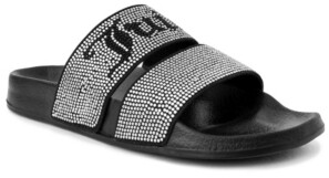 Juicy Couture Women's Winx Studded Double Band Slide Sandal Women's Shoes