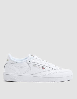Reebok Club C 85 Sneaker in White/Light Grey