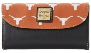 Dooney & Bourke Texas Longhorns Saffiano Continental Clutch