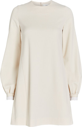 Victoria Victoria Beckham Balloon Sleeve Crepe Mini Dress