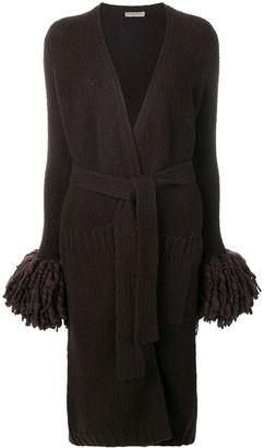 Bottega Veneta long knitted cardi-coat