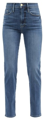 Frame Le Sylvie High-rise Straight-leg Jeans - Denim