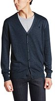 G Star Men's Berlow Cardigan Knit In Aril Knit Mazarine Blue Heather