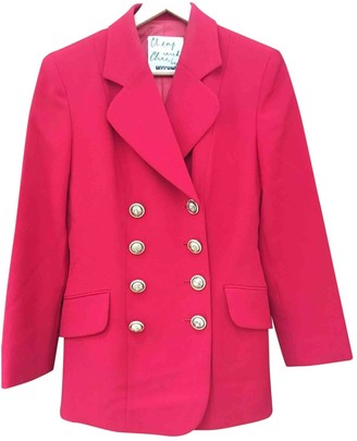 Moschino Cheap & Chic Moschino Cheap And Chic Red Wool Jacket for Women Vintage