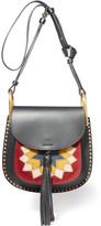 Chloé Hudson Wonder Woman Small Leather And Suede Shoulder Bag - Black