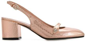Pollini slingback block heel pumps