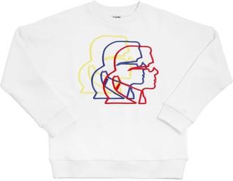 Karl Lagerfeld Paris Embroidered Cotton Sweatshirt