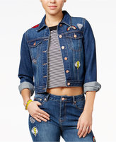 The Edit By Seventeen Juniors' Patch Denim Jacket, Only at Macy's