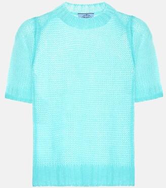 Prada Mohair-blend T-shirt