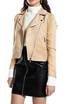 Ivy Revel DE Women's Biker Jacket,8 (Size: 34)