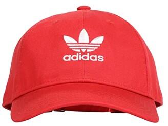 adidas Originals Relaxed Strapback Hat (White/Black) Caps