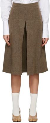 Maison Margiela Brown Heavy Pleated Shorts