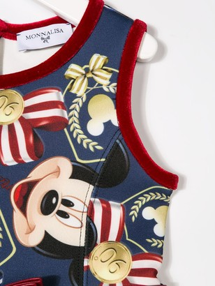 MonnaLisa Mickey Mouse print dress