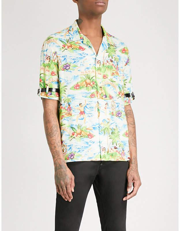 DSQUARED2 Hawaiian woven shirt