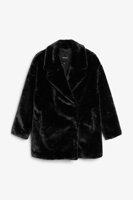 Monki Short faux fur jacket
