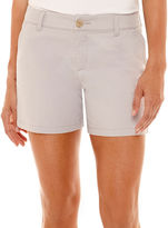Liz Claiborne Stretch Twill Shorts - Tall