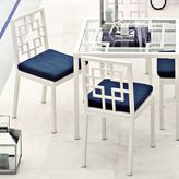 Overlapping-Squares Outdoor Chair Cushion