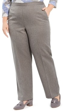Alfred Dunner Plus Size Sapphire Skies Herringbone Pull-On Pants