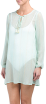 Long Sleeve Tunic Cover-up