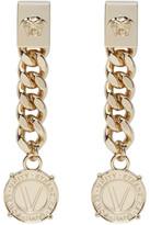 Versace Gold Infinity Medallion Earrings