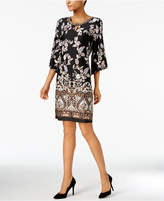 NY Collection Printed Embellished Dress