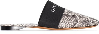 Givenchy Bedford snakeskin-effect mules