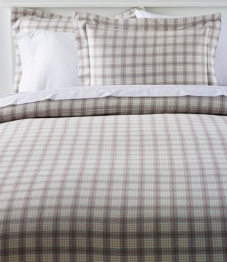 L.L. Bean Heritage Chamois Flannel Comforter Cover Collection, Plaid