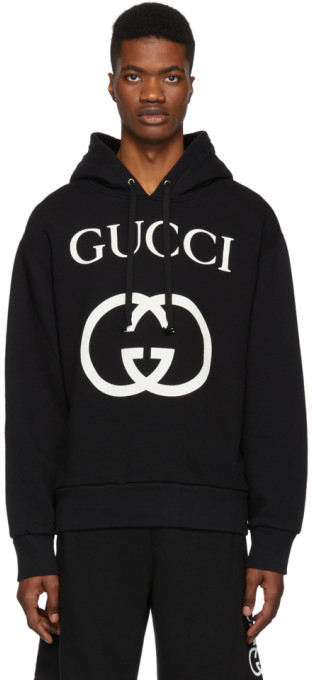 Gucci Black Interlocking G Hoodie