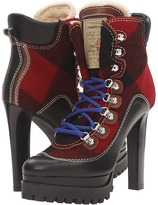 DSQUARED2 Lace-Up Heeled Winter Boot Women's Lace-up Boots