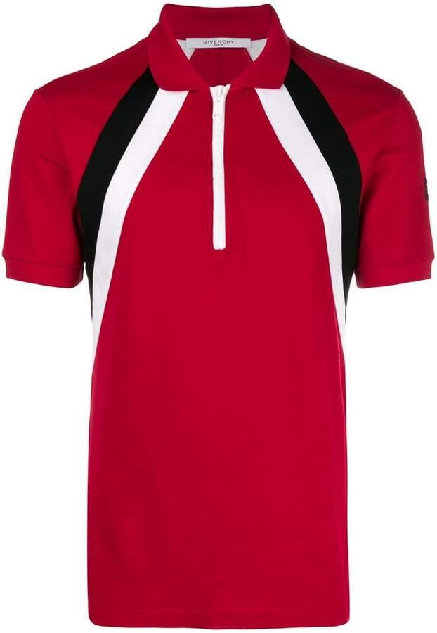 Givenchy zip up polo shirt