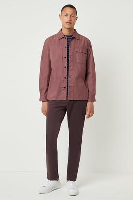 French Connenction Garment Dye Herringbone Shacket