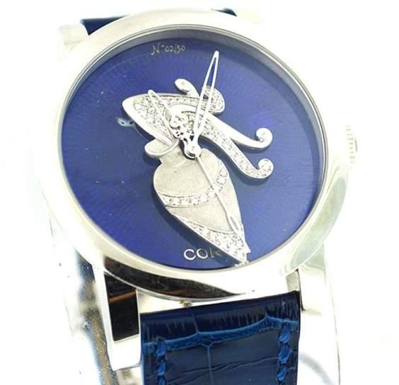 Corum Artisan 2/50 Aquarius Blue Diamonds 18K White Gold Watch