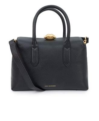 Lulu Guinness Madeline Grainy Leather Bag Colour: BLACK, Size: One Siz