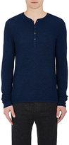 Rag & Bone Men's Giles Wool Henley Sweater-BLUE