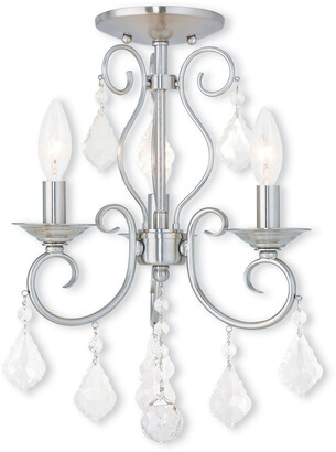 Livex Lighting Livex Donatella 3-Light Bn Mini Chandelier/Ceiling Mount