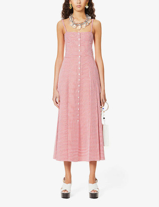 Gabriela Hearst Prudence gingham cotton midi dress