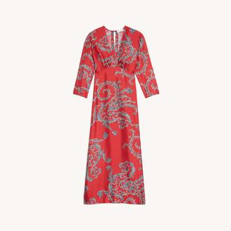Sandro Printed midi dress