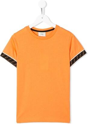 Fendi Kids FF trim T-shirt