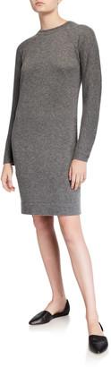 Vince Crewneck Raglan-Sleeve Dress