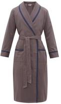 P. Le Moult - Cotton-herringbone Robe - Mens - Grey