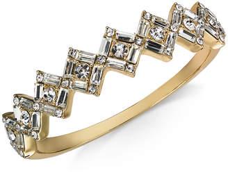 Charter Club Baguette-Crystal Cluster Bangle Bracelet