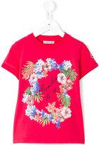 Moncler floral print T-shirt - kids - Cotton/Spandex/Elastane - 4 yrs