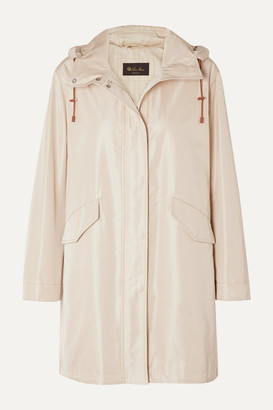 Loro Piana Headley Hooded Matte-satin Raincoat - Beige