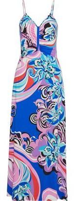 Emilio Pucci Ruched Printed Stretch-jersey Maxi Dress