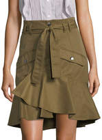 Marissa Webb Women's Cargo Ruffle Skirt