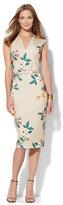 New York & Co. 7th Avenue Design Studio Floral Sheath Dress - Sand